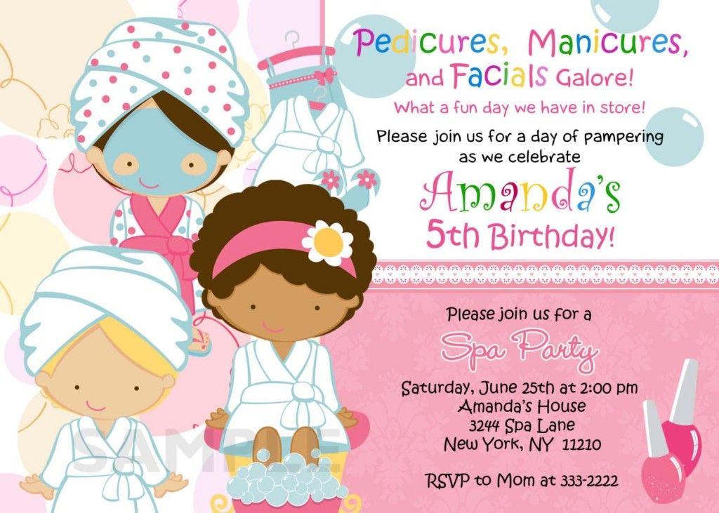 Spa Birthday Party Invitations Printables Free spa party ideas - free birthday invitations to print