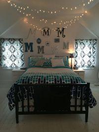 Teenage girls bedroom, twinkle lights, Christmas lights ...