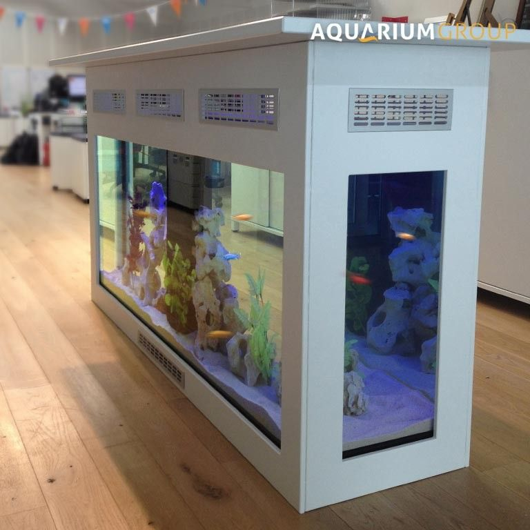Freestanding Counter Aquarium A Free Standing Bar Aquarium For Commercial Client Glass Top
