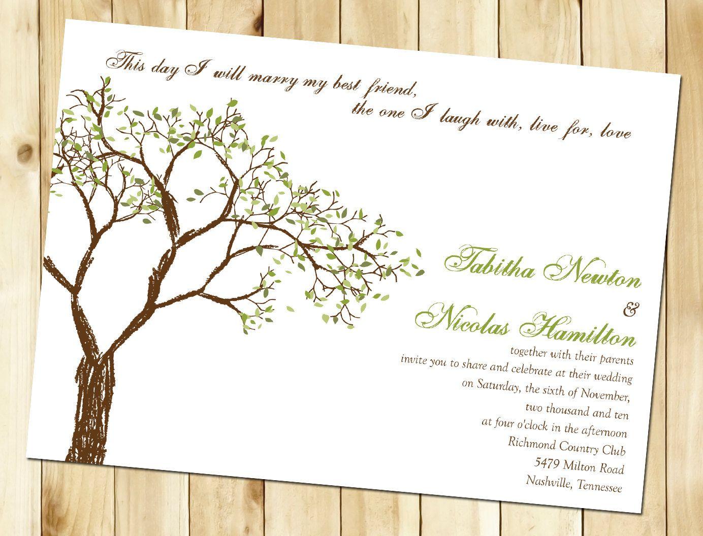 etsy wedding invitations Fall Tree Wedding Invitation Sample by nmiphotocreations on Etsy 3 00 a little sneak peak