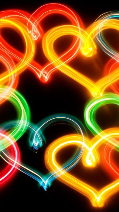 Neon Heart iPhone 6 Plus Wallpaper 13319 - Abstract iPhone ...