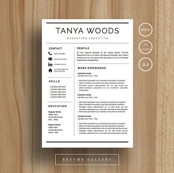 Professional Resume Template CV Template Cover Letter For MS - iwork resume templates