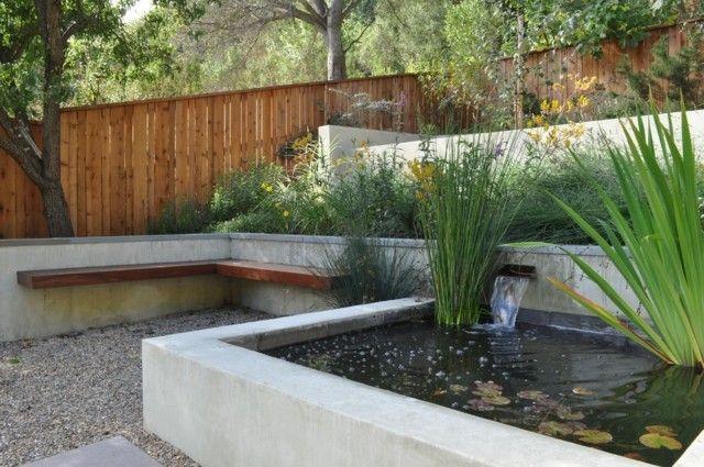 Bäume Gartenrand hoch Zaun Nachbarn Kleingarten anlegen Garten - lounge gartenmobel 22 interessante ideen fur paradiesischen garten