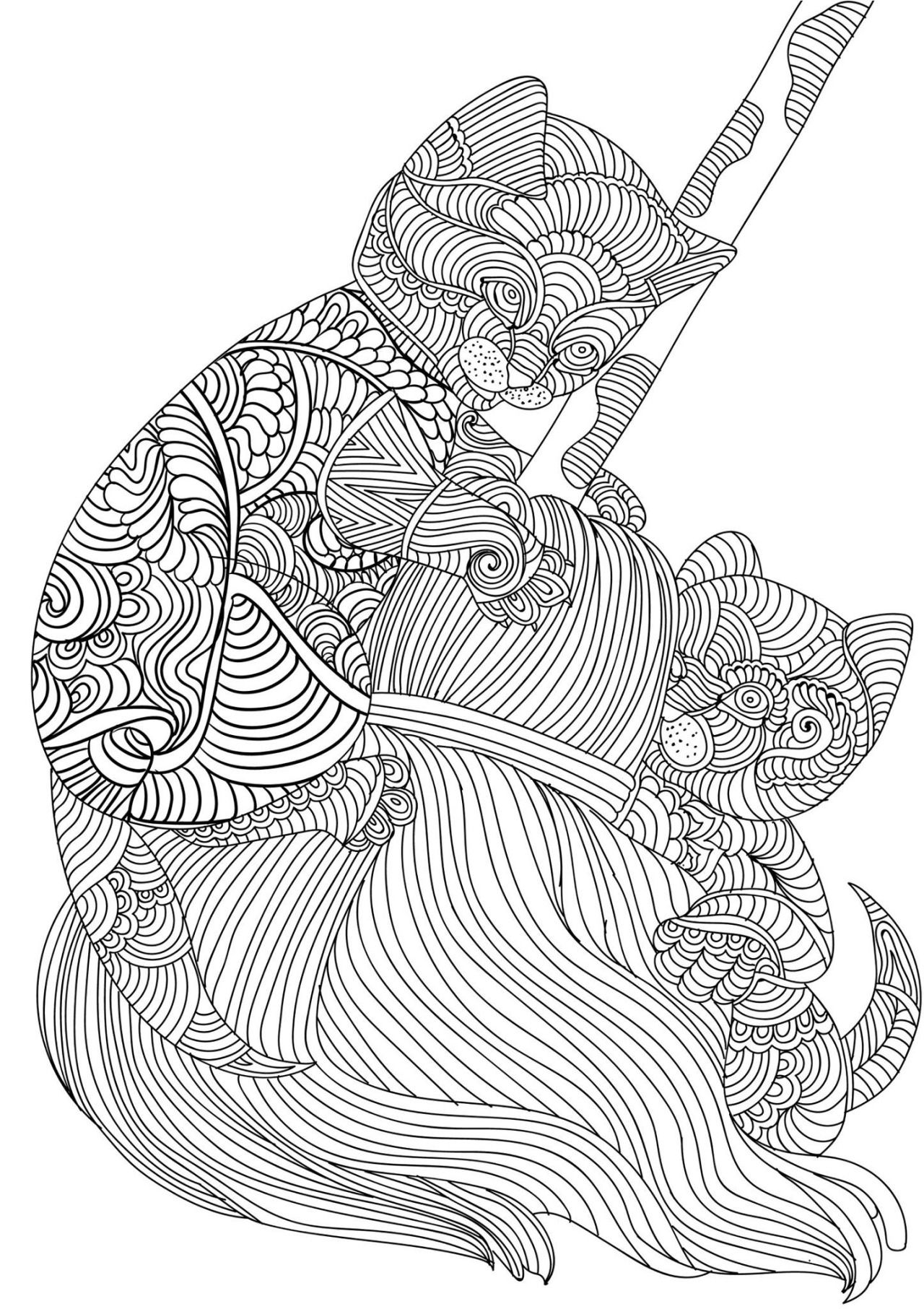 Look at these cute cats an image straight out of our upcoming adult coloring book