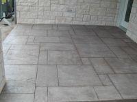 stamped concrete patio floor--hmmm not a bad idea ...