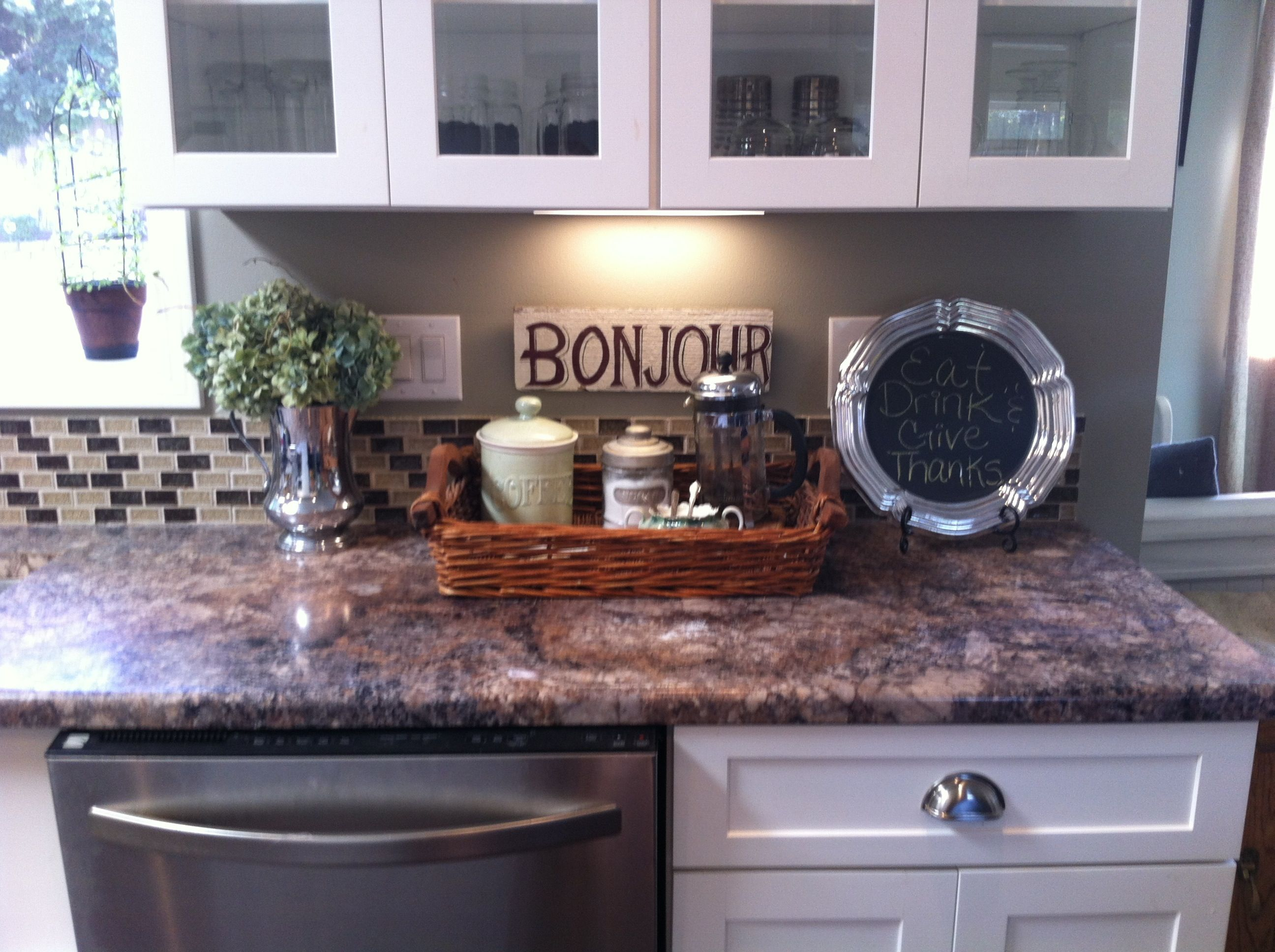 Kitchen Decorations For Countertops Kitchen Counter Decor A Pretty Home Is A Happy Home