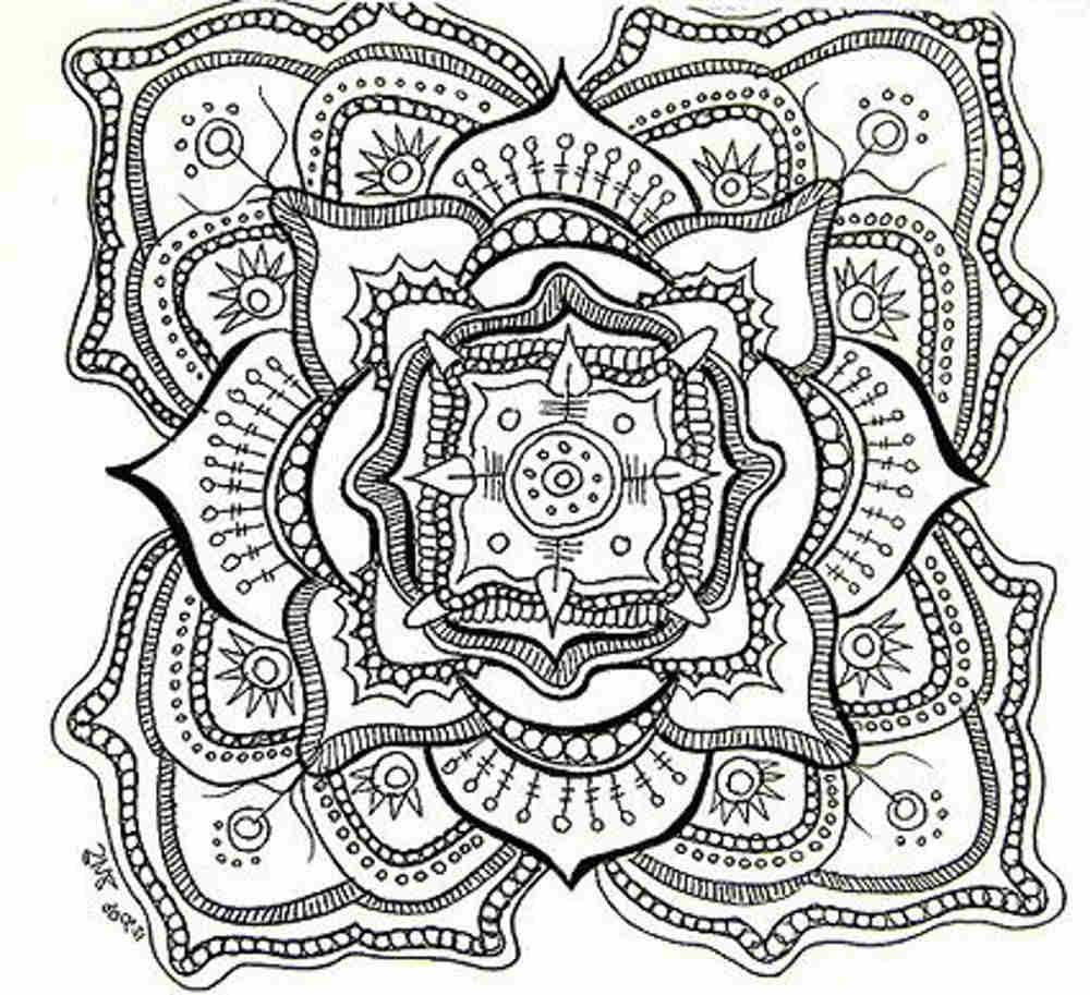 Wolf mandala coloring pages - Wolf Mandala Coloring Pages 59