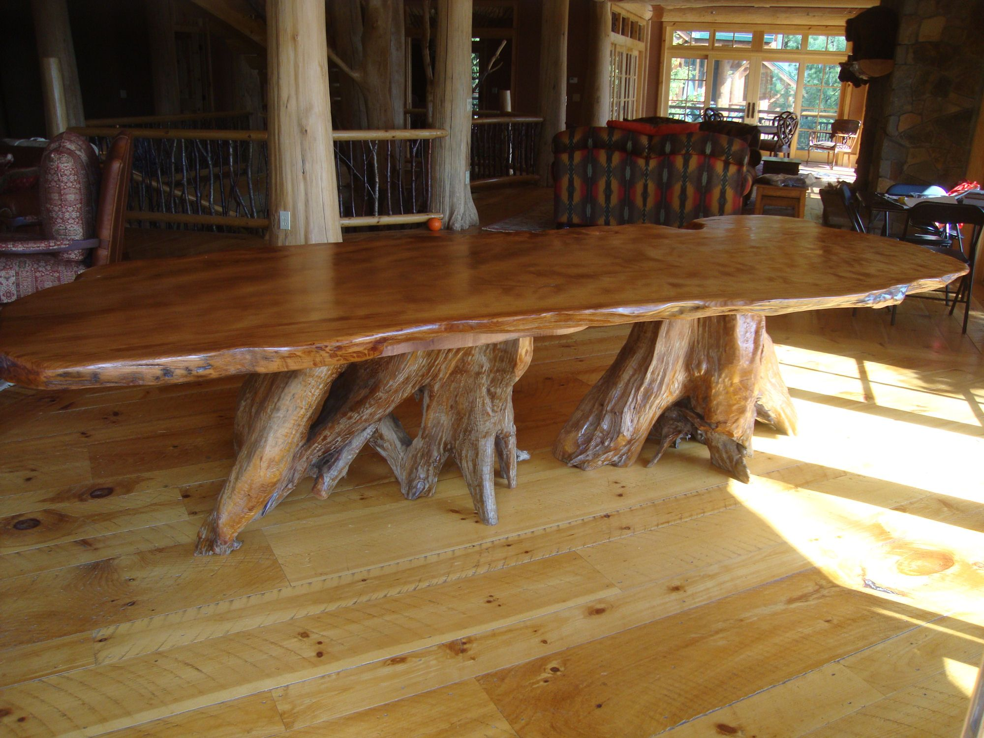 rustic kitchen table a rustic This old growth redwood rustic dining table features a 12 long by