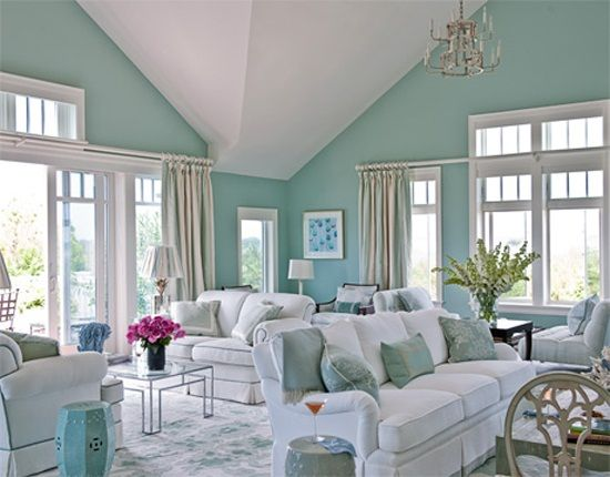 Considering Best Living Room Colors: Light Blue Living Room Paint