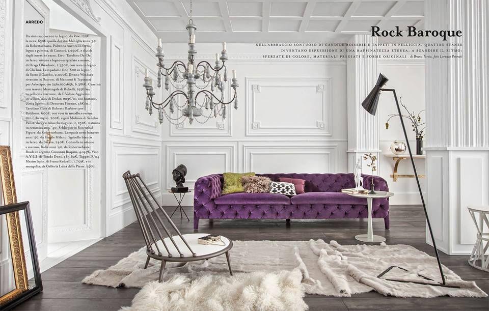 WINDSOR by Arketipo firenze ROCK-BAROQUE, as seen in Marie Claire - designer sofa windsor arketipo