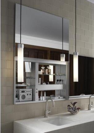Robern Uplift Mirrored Medicine Cabinet - modern - bathroom - designer bathroom mirrors