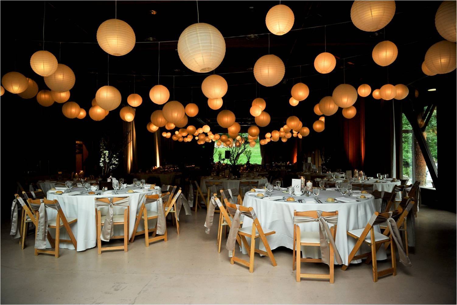 lanterns for weddings champagne colored wedding wedding venue white chinese lanterns champagne