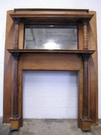 Columbus Architectural Salvage - Antique Wood Fireplace ...