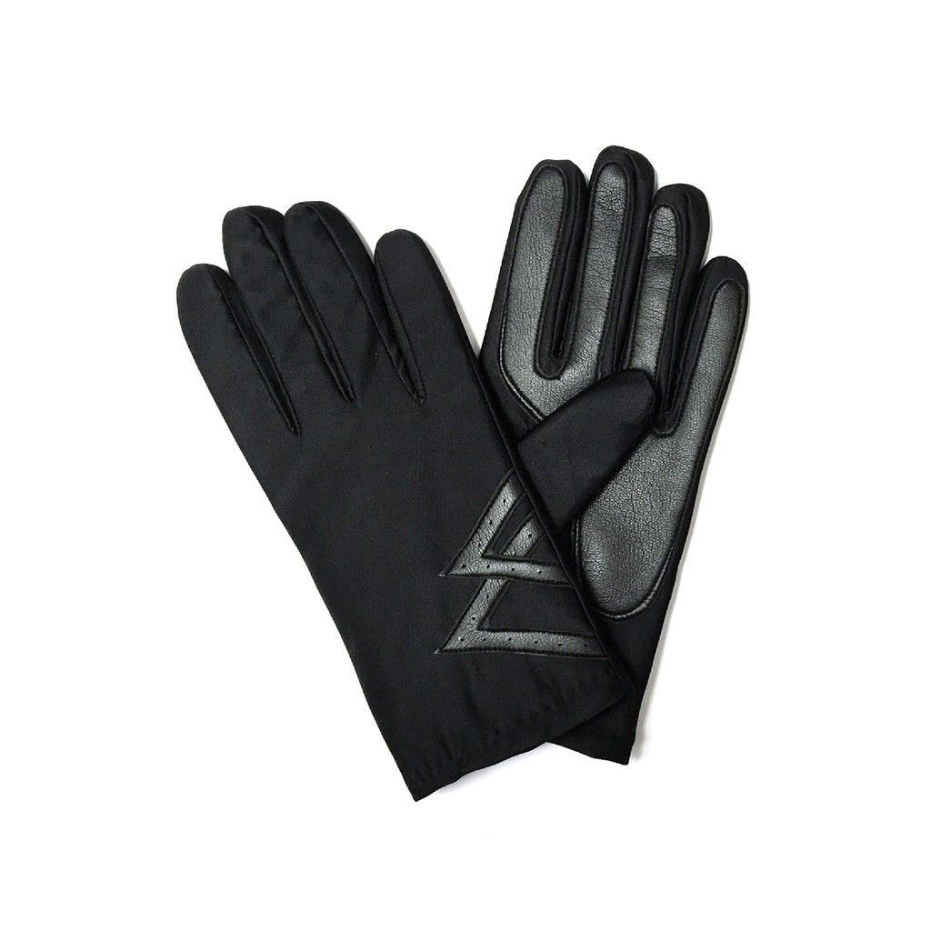 Mens stretchy faux leather driving gloves
