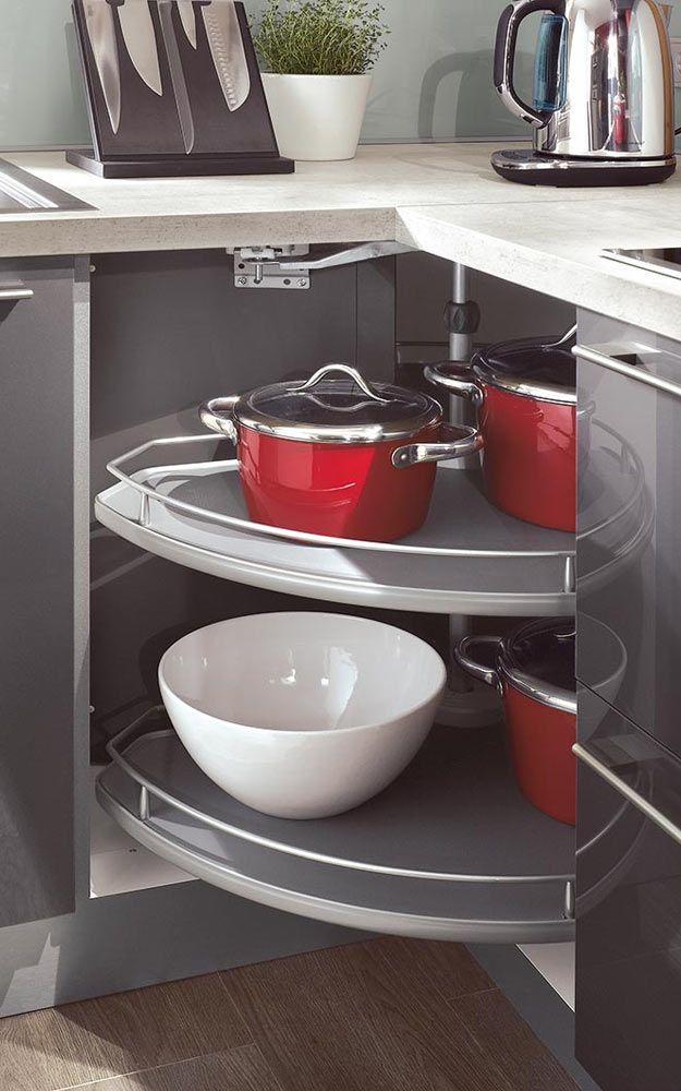 Eckschränke für die Küche u2013 Multitalente für viel Komfort Küche - eckschrank kueche einrichtung ideen