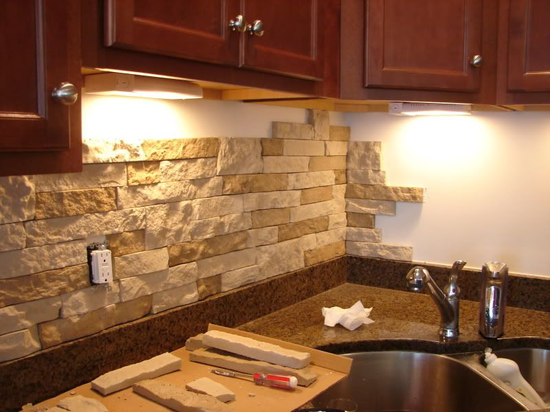 Airstone Lowes Diy Stone Backsplash With Airstone From Lowes. Thinking