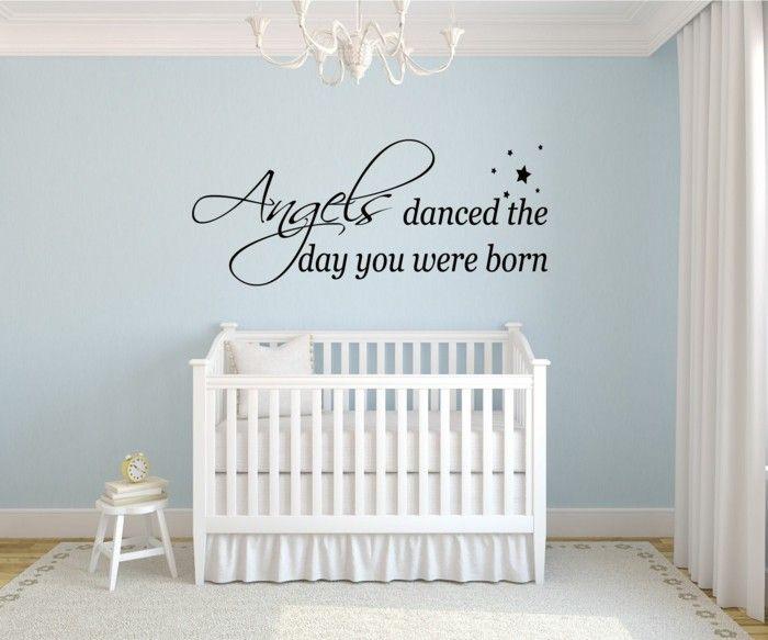 kinderzimmer deko ideen babyzimmer hellblaue wände wandsticker - wandsticker babyzimmer nice ideas
