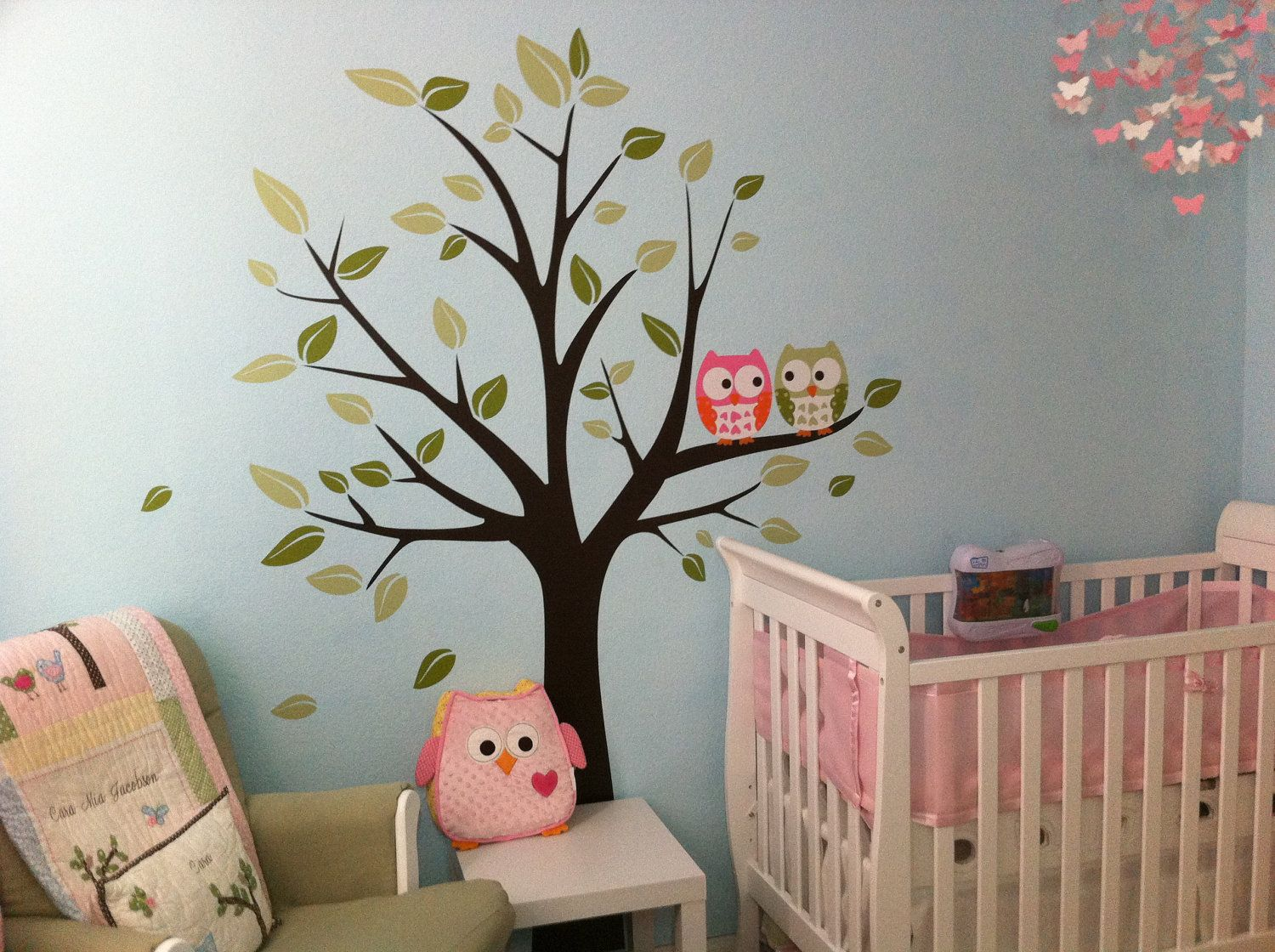 Owl Room Decor Wall Decals Owls On A Tree Baby Nursery Decals By