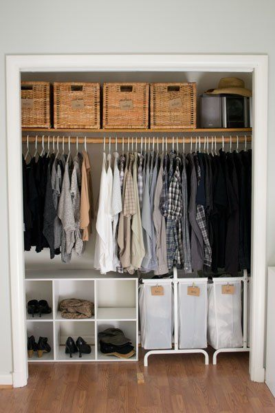 How we organized our small bedroom, bedroom ideas, closet - small bedroom organization ideas