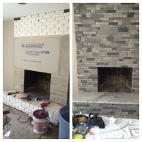 i refaced this old brick fireplace on a house i was ...