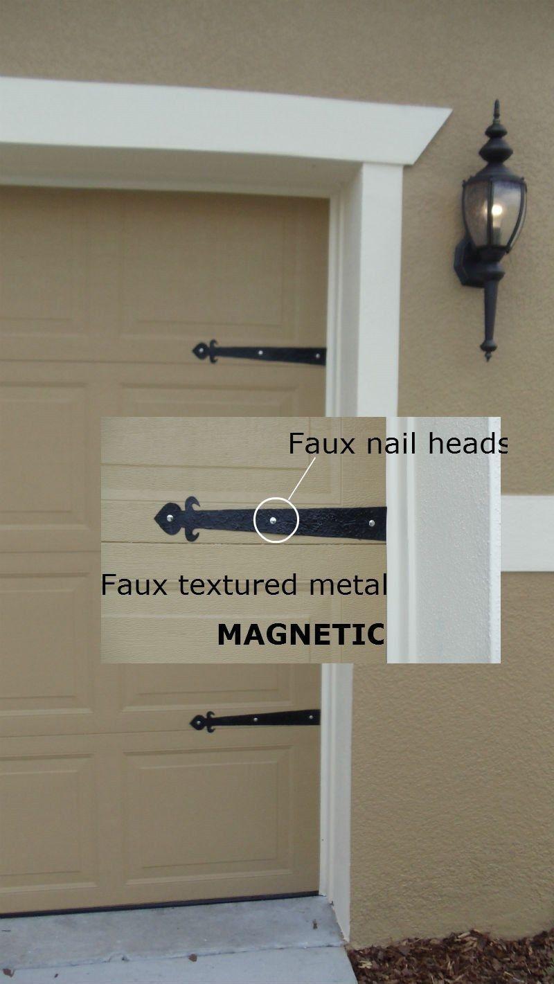 Carriage house garage doors hardware - Garage Door Supply Magnetic Garage Door Decorative Hardware Kit Hinges Fleur De Lis Carriage House Ebay