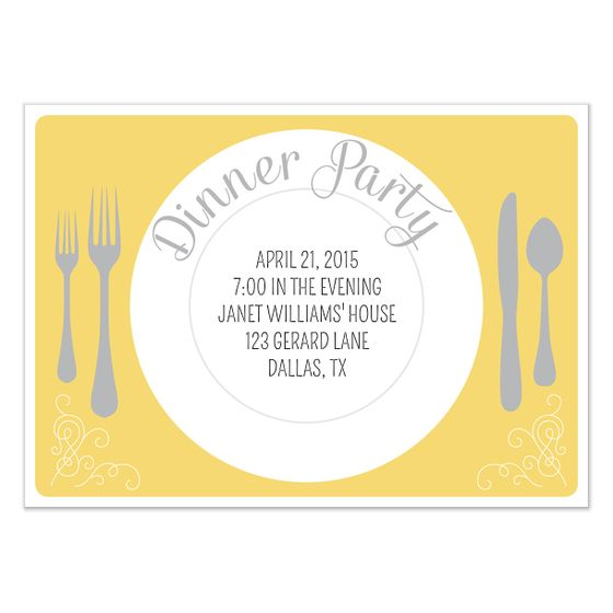 dinner invite template dinner party invitation template - dinner invitation template