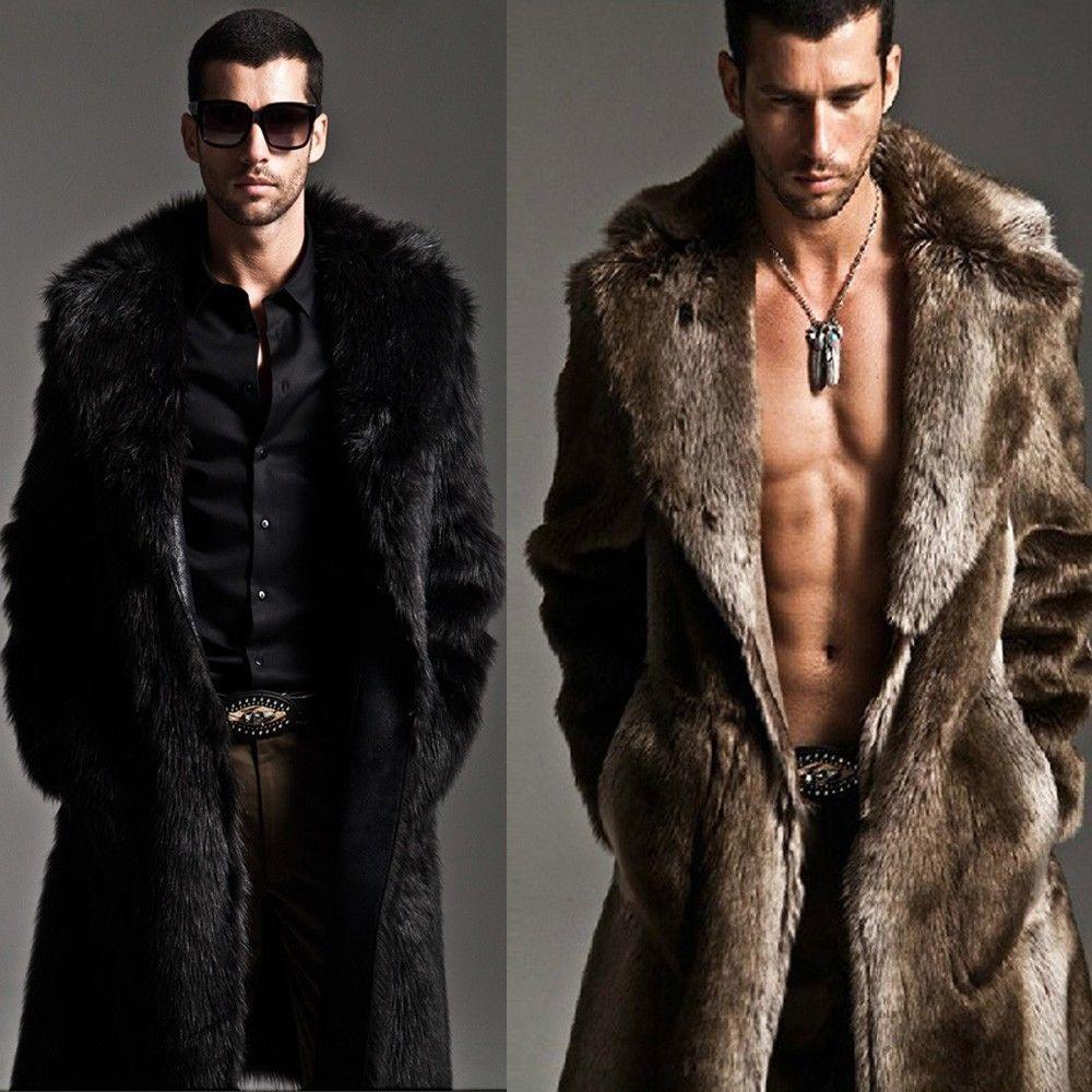 Mens fur coat ebay
