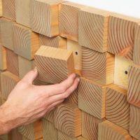 DIY Natural Wood Block Wall Treatments Decor Inspiration ...