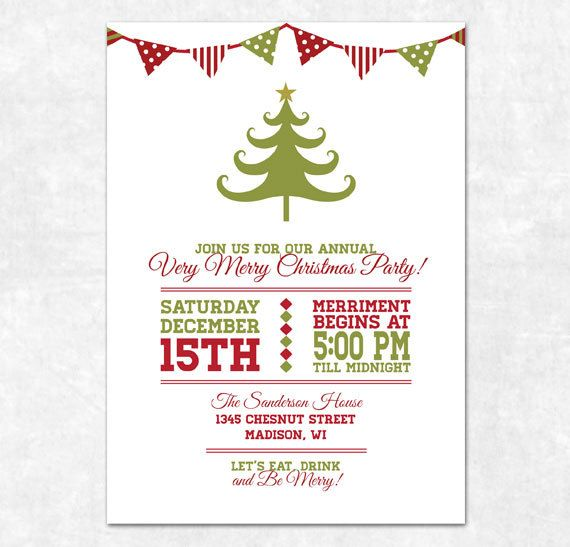 christmas party invitations templates free printables - Rainforest - dinner invitation template free