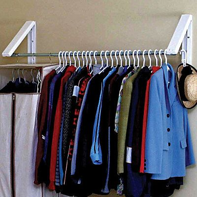 Quikcloset Wall Mounted Garment Rack Garment Racks