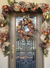 Decorate your front door with this 10 1/2 Custom Fall ...