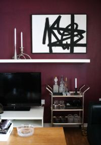 Feature this - (a second) burgundy wall  | Pinteres