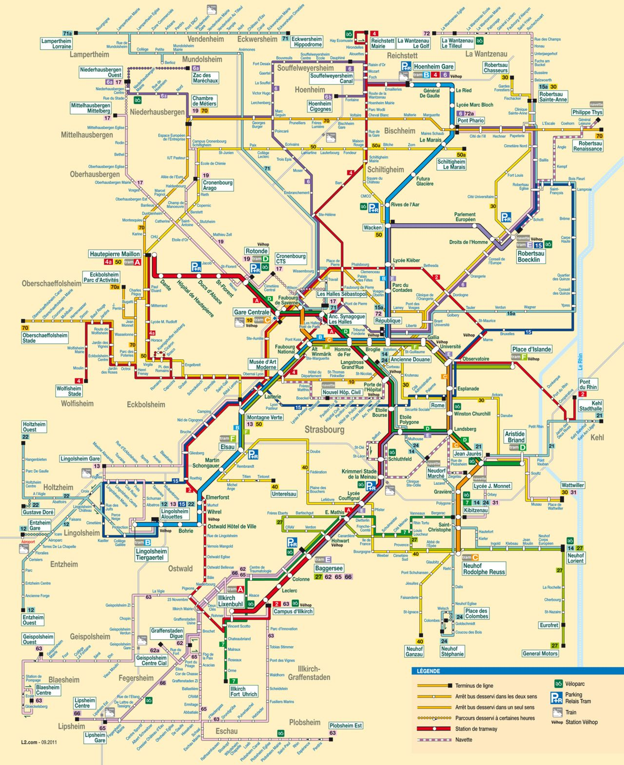 Bus Metz Lyon Official Map Bus And Tram Network Map Strasbourg France