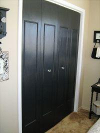 updated bi-fold closet doors. add trim, paint and change ...