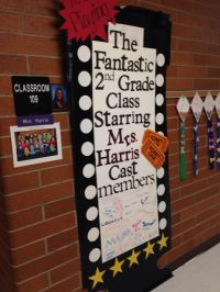Teacher appreciation, decorate door, Hollywood theme ...