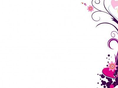 Cute Bordered Pastel Flower Wallpaper Art Flower Border Free Template Presentation Background