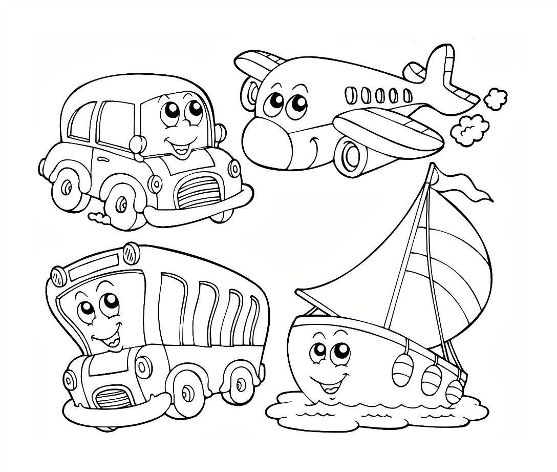 Transportation coloring worksheets for preschool electric scooters for everyday life click the picture