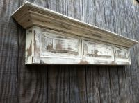 Distressed wall shelf - Raised panel fireplace mantel ...