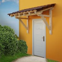 Wood Canopy Porch Door Awning 2050 mm Panel Solid Timber ...