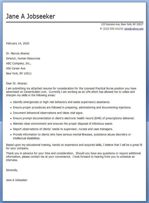 cover letter examples for resume lvn