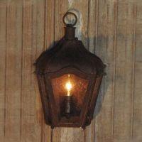 Rustic Brown Iron Carriage Wall Lantern Indoor/Outdoor ...