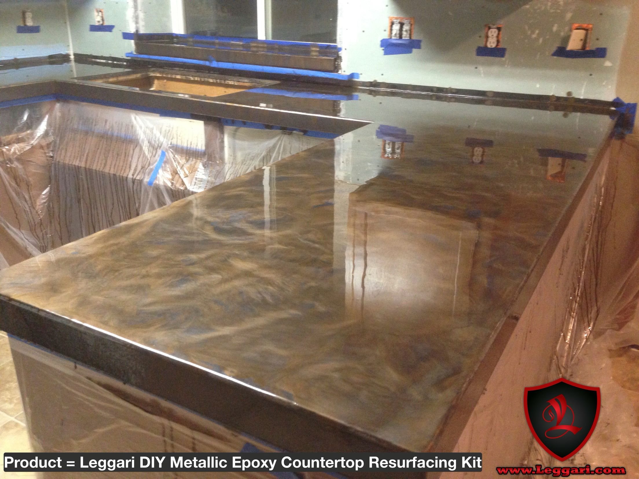 Resurface Countertop Kit Diy Metallic Epoxy Countertop Resurfacing Kits Are