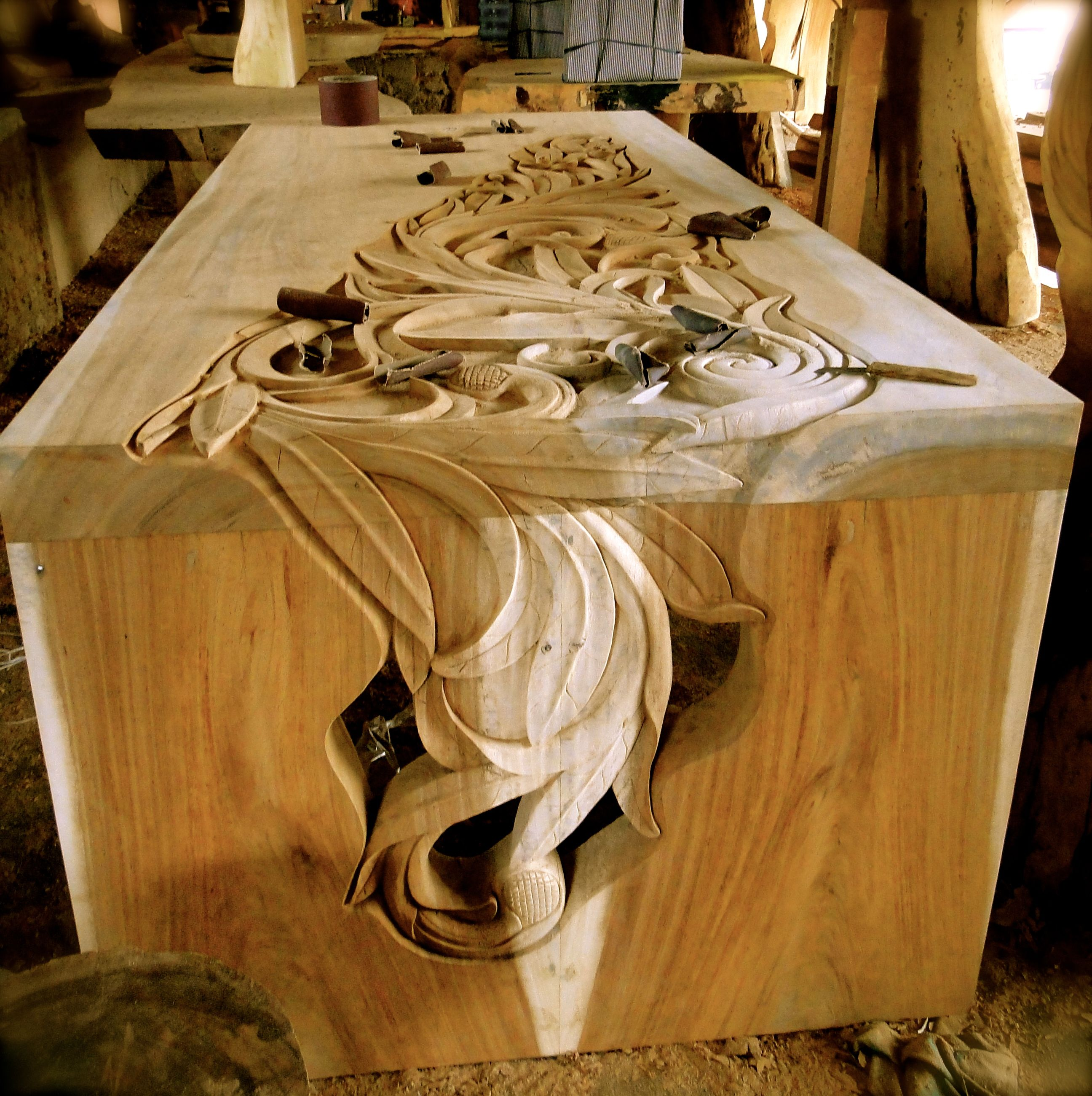 Woodworking Table Ideas Incredible Craftsmanship In Bali Hand Carved Table A