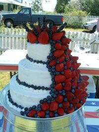 Fourth of July wedding cake | Craft Ideas | Pinterest ...