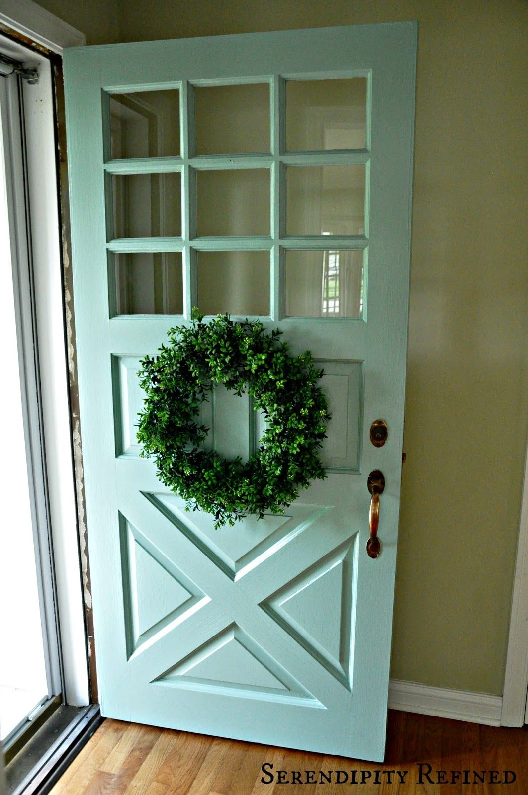 Farmhouse French Country Garage Doors This Soft Turquoise Is The New Color For The Exterior