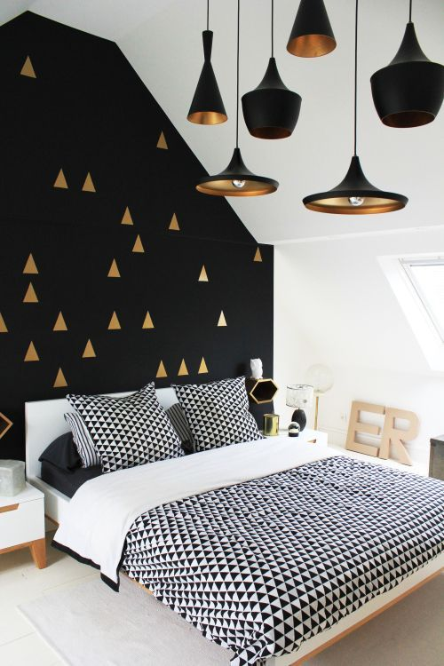 57 Awesome Design Ideas For Your Bedroom Gold color scheme - black and gold bedroom decorating ideas