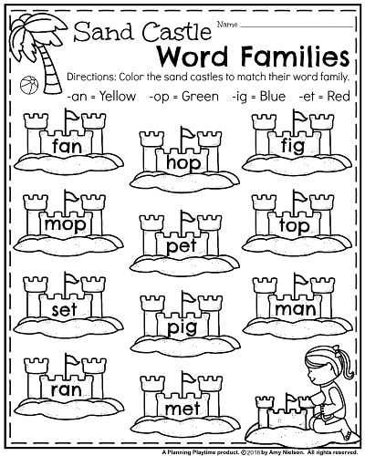 Word Families Kindergarten Worksheets ?slide=2