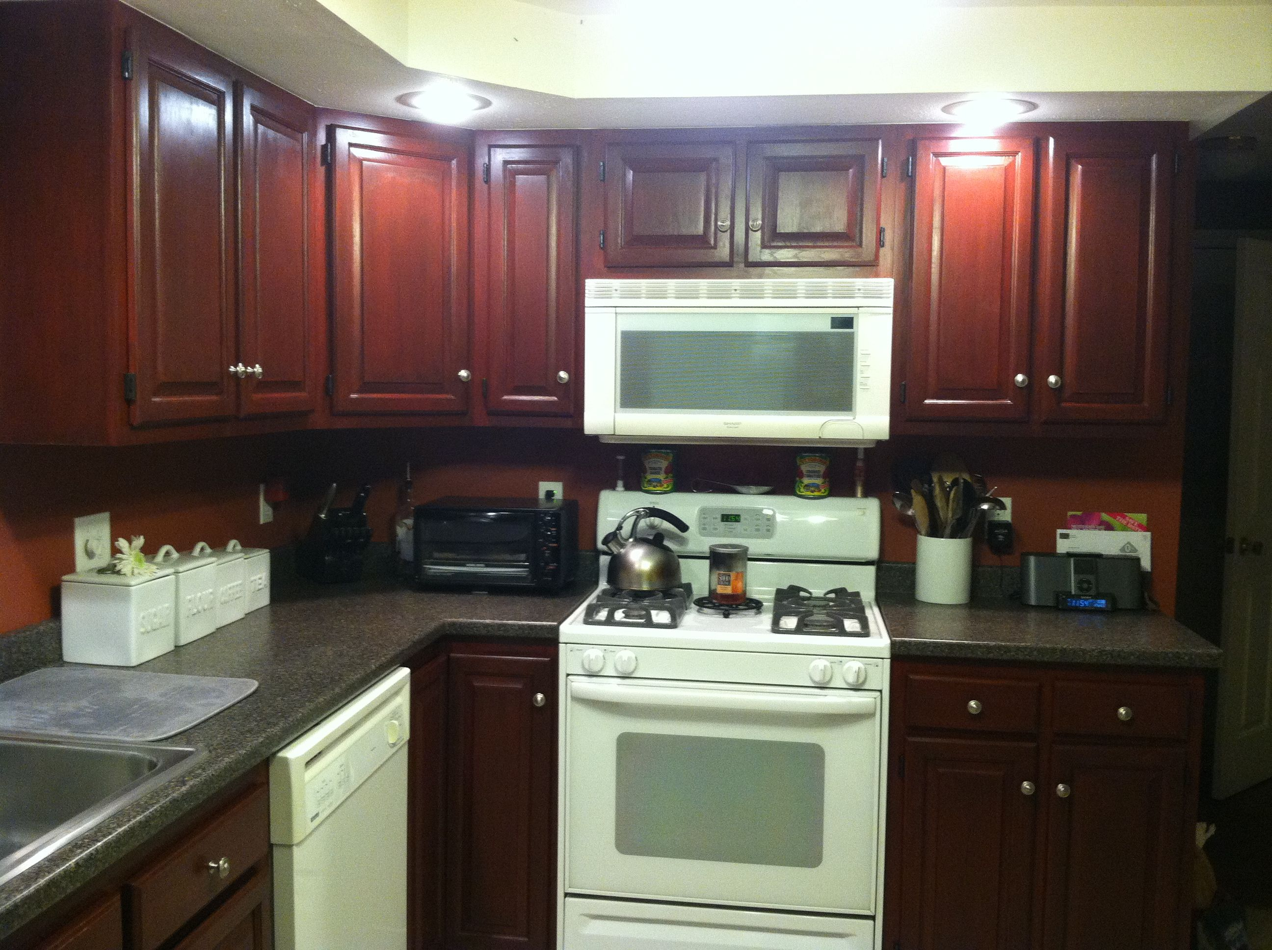 Painted 60s Kitchen Cabinets Testimonial Gallery Rust Oleum Cabinet Transformations
