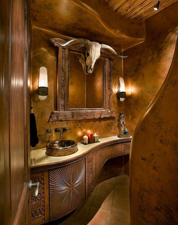 Decorating with skulls u2013 a bold and daring trend Western - western bathroom ideas