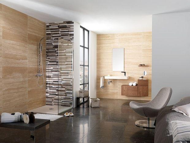 sandstein-fliesen-optik-relaxsessel-ideen-gestaltung-für-bad - gestaltung badezimmer nice ideas